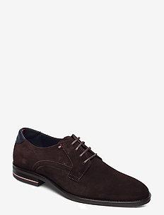 SIGNATURE HILFIGER SUEDE SHOE - chaussures lacées - cocoa
