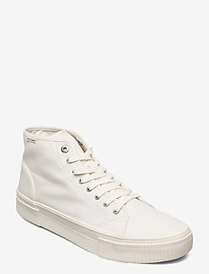ELEVATED SEASONAL MIDCUT TEXTILE - hoog sneakers - ivory