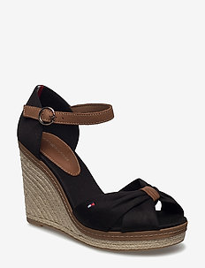 ICONIC ELENA SANDAL - heeled espadrilles - black
