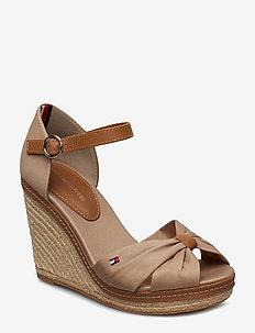 ICONIC ELENA SANDAL - heeled espadrilles - cobblestone