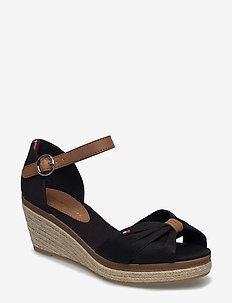 ELBA 40D* - espadrilles med hæl - black