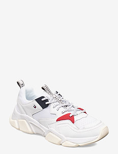 CHUNKY MIXED TEXTILE TRAINER - låga sneakers - white