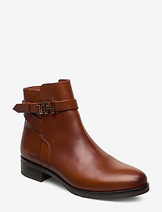 TH HARDWARE LEATHER FLAT BOOT - flade ankelstøvler - rust