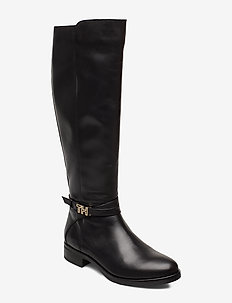 TH HARDWARE LEATHER LONGBOOT - lange stiefel - black