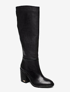 MONO COLOR LONGBOOT - høye boots - black