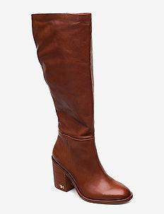 MONO COLOR LONGBOOT - høye boots - rust
