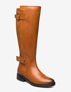 MODERN SUEDE LONGBOOT - høye boots - leather brown
