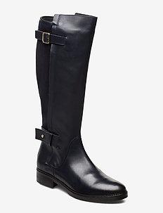 MODERN SUEDE LONGBOOT - høye boots - midnight