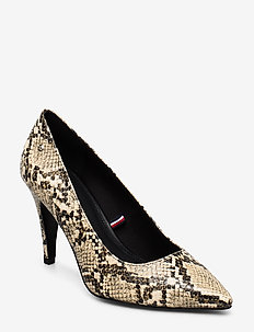 SNAKE PRINT PUMP - klassiske pumps - warm sand