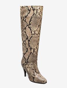 ZENDAYA SNAKE PRINT BOOT - høye boots - snake skin
