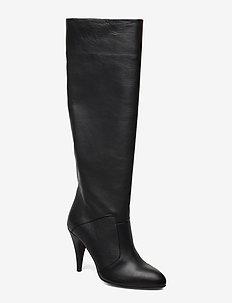 ZENDAYA LEATHER BOOT - høye boots - black