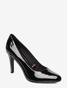 ELEVATED PATENT HIGH PUMP - klassiske pumps - black