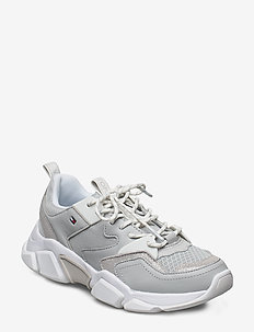 CHUNKY LIFESTYLE GLIT SNEAKER - chunky sneakers - grey whisper