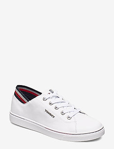GLITTER DETAIL CITY - lave sneakers - white