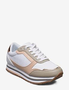 FEMININE TH MONOGRAM SNEAKER - chunky sneaker - sandrift