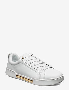 BRANDED OUTSO METALLIC SNEAKER - WHITE