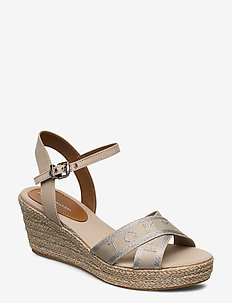TH METALLIC MID WEDGE Espadrille - STONE