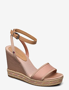 SPORTY TEXTILE HIGH WEDGE - SANDBANK