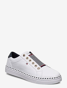 TOMMY ELASTIC CITY SNEAKER - matalavartiset tennarit - white