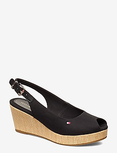 ICONIC ELBA SLING BACK WEDGE - korolliset espadrillot - black
