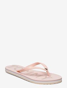 TH FOOTBED FLAT BEACH SANDAL - flip-flops - pale pink