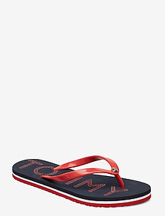 TOMMY FOOTBED FLAT B - klip-klapper - rwb