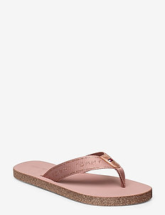 TH GLITTER FLAT BEACH SANDAL - flip flops - rose gold