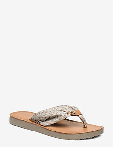 TH MONO FLAT BEACH SANDAL - STONE