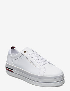 CORPORATE FLATFORM SNEAKER - lave sneakers - white