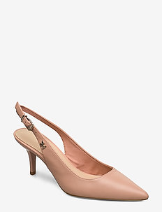 FEM LEATHER MID SLING BACK - sling backs - sandbank