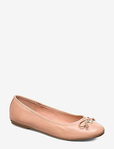 FEM LEATHER KNOT BALLERINA - ballerinas - sandbank