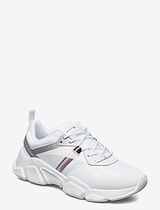 TECHNICAL CHUNKY TOMMY SNEAKER - chunky sneakers - white/silver