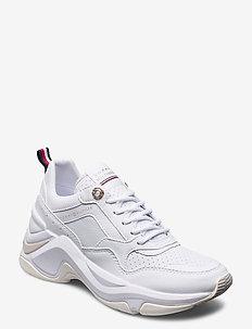 FEMININE INTERNAL WEDGE SNEAKER - lave sneakers - white
