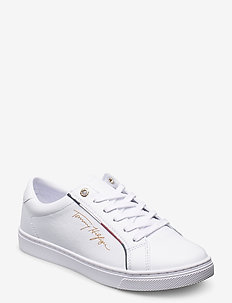 TOMMY HILFIGER SIGNATURE SNEAKER - lave sneakers - white