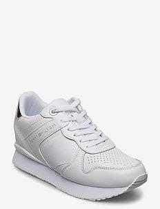DRESSY WEDGE SNEAKER - low top sneakers - white
