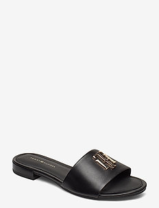 TH HARDWARE FLAT MULE - flade sandaler - black