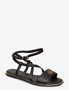 TH HARDWARE FLAT SANDAL - flade sandaler - black