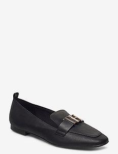 POLISHED TOMMY LOAFER - loafers - black