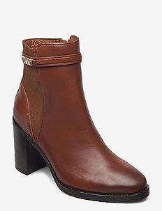 BLOCK BRANDING HIGH HEEL BOOT - heeled ankle boots - pumpkin paradise