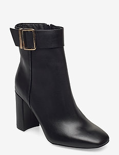 BASIC SQUARE TOE BOOT - heeled ankle boots - black