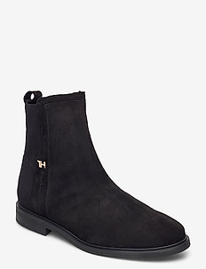 ESSENTIAL FLAT BOOT - platta ankelboots - black