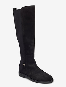 ESSENTIAL FLAT LONG BOOT - langskaftede - black