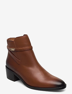 BLOCK BRANDING LEATHER MID BOOT - heeled ankle boots - pumpkin paradise