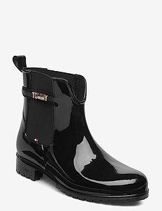 BLOCK BRANDING RAINBOOT - chelsea boots - black
