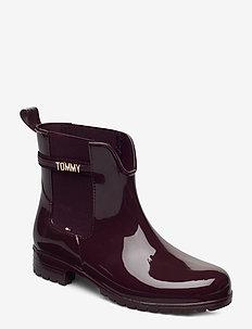 BLOCK BRANDING RAINBOOT - chelsea boots - deep burgundy