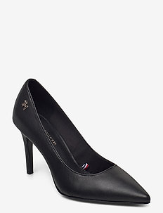 ESSENTIAL LEATHER HIGH HEEL PUMP - classic pumps - black