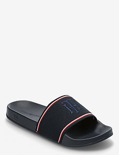 TOMMY KNITTED POOL SLIDE - pool sliders - desert sky