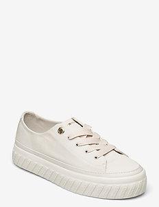 SHINY FLATFORM VULC SNEAKER - low top sneakers - white dove