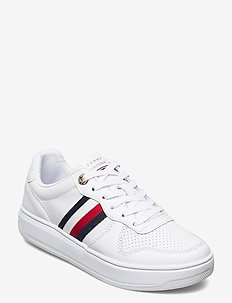 TOMMY TAPE LEATHER CUPSOLE - low top sneakers - white
