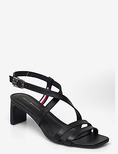 TH INTERLOCK SQUARE TOE SANDAL - heeled sandals - black
